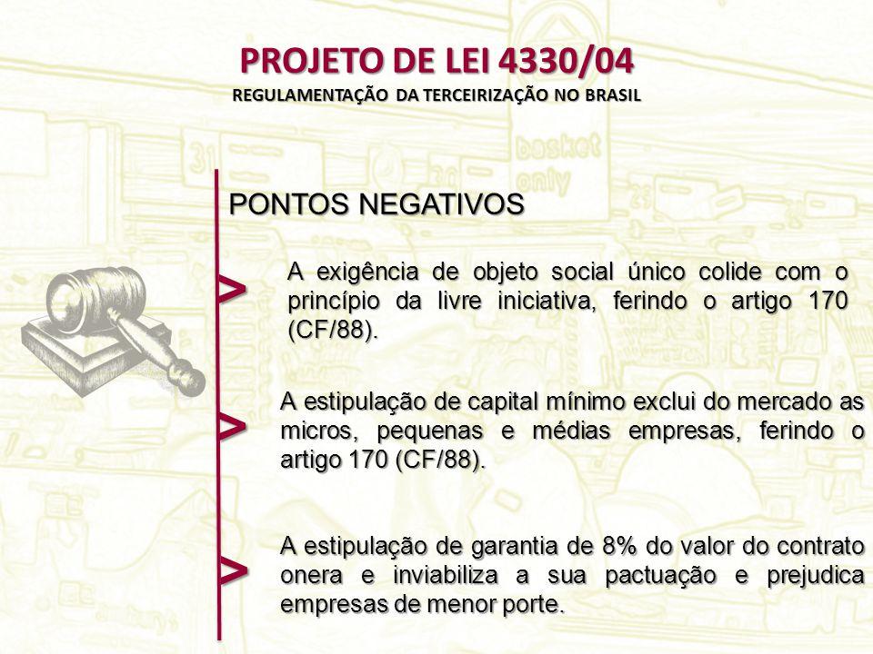 A exigência de objeto social único colide com o princípio da livre iniciativa, ferindo o artigo 170 (CF/88).
