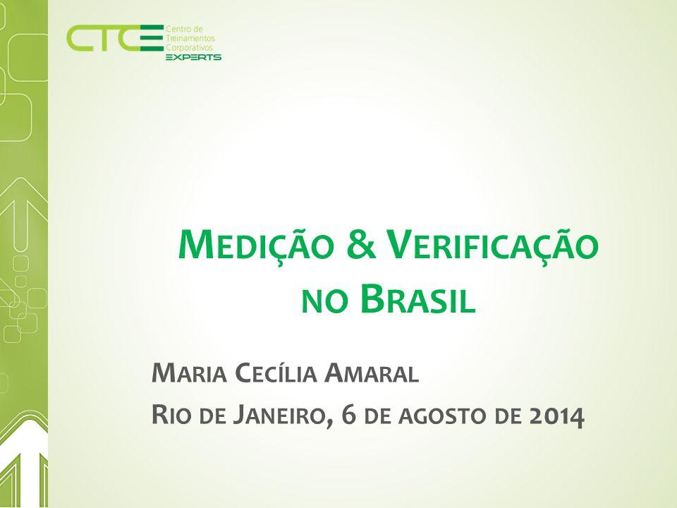 M EDIÇÃO & V ERIFICAÇÃO NO B RASIL M ARIA C ECÍLIA A MARAL R IO DE J ANEIRO, 6 DE AGOSTO DE 2014