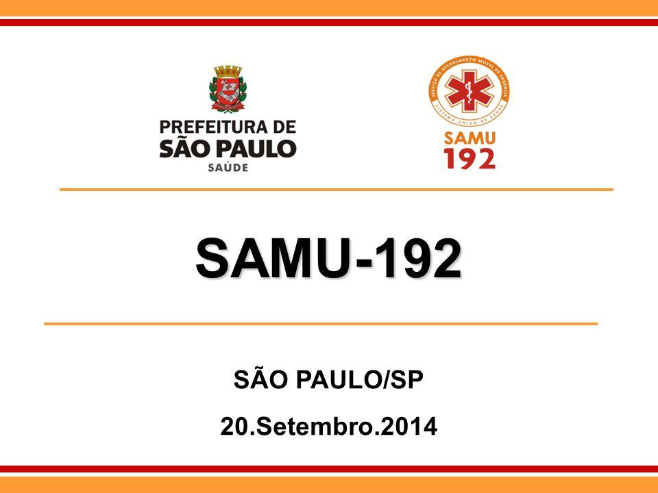 SAMU-192 SAMU-192 SÃO PAULO/SP 20.Setembro.2014
