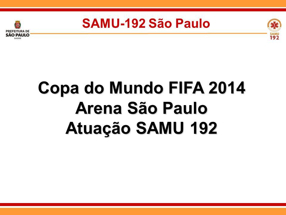 SAMU-192 São Paulo Copa do Mundo FIFA 2014 Arena São Paulo Atuação SAMU 192