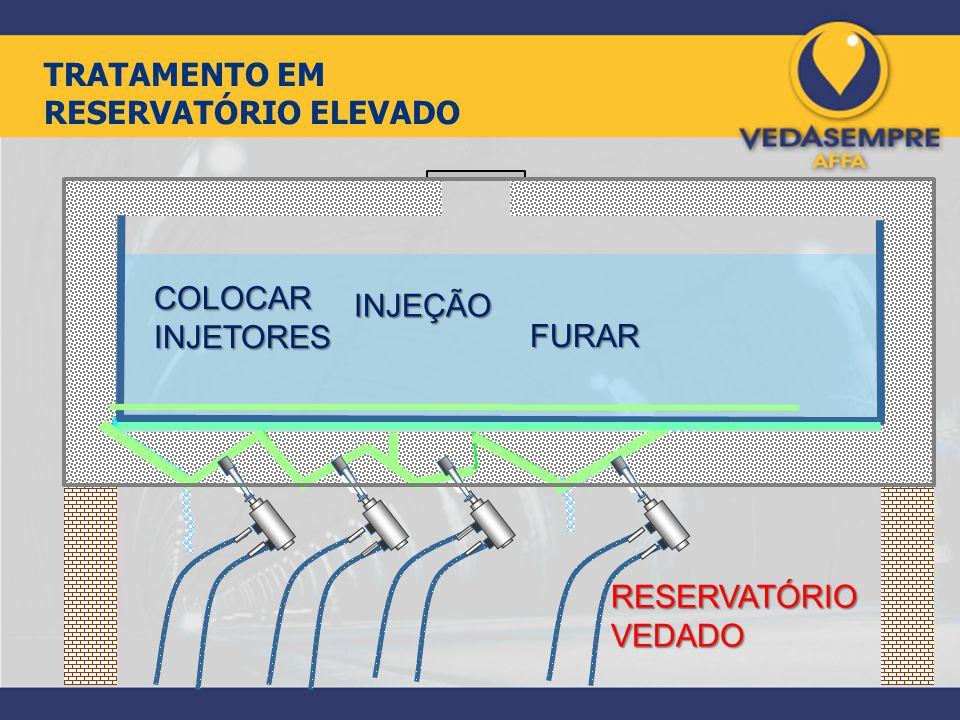 FURAR COLOCAR INJETORES INJEÇÃO RESERVATÓRIO VEDADO TRATAMENTO EM RESERVATÓRIO ELEVADO