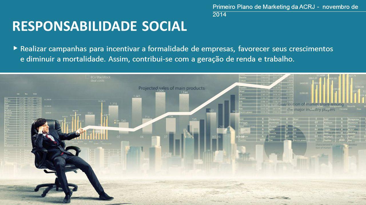RESPONSABILIDADE SOCIAL Realizar campanhas para incentivar a formalidade de empresas, favorecer seus crescimentos e diminuir a mortalidade. Assim, con