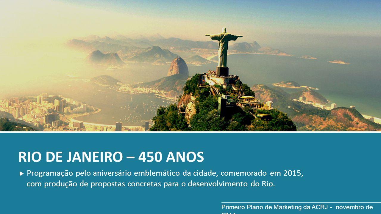 RIO DE JANEIRO – 450 ANOS Programação pelo aniversário emblemático da cidade, comemorado em 2015, com produção de propostas concretas para o desenvolv