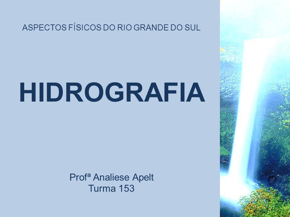ASPECTOS FÍSICOS DO RIO GRANDE DO SUL HIDROGRAFIA Profª Analiese Apelt Turma 153