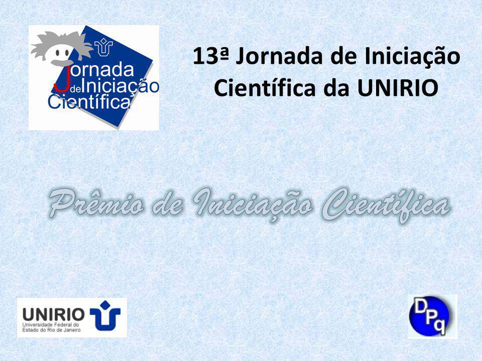 13ª Jornada de Iniciação Científica da UNIRIO