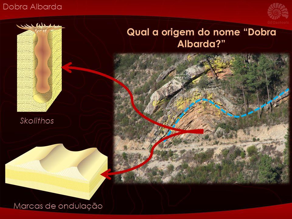 Dobra Albarda Skolithos Marcas de ondulação Qual a origem do nome Dobra Albarda