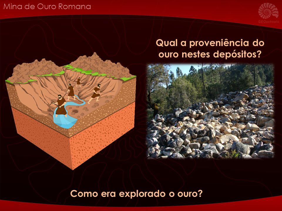 Mina de Ouro Romana Como era explorado o ouro Qual a proveniência do ouro nestes depósitos