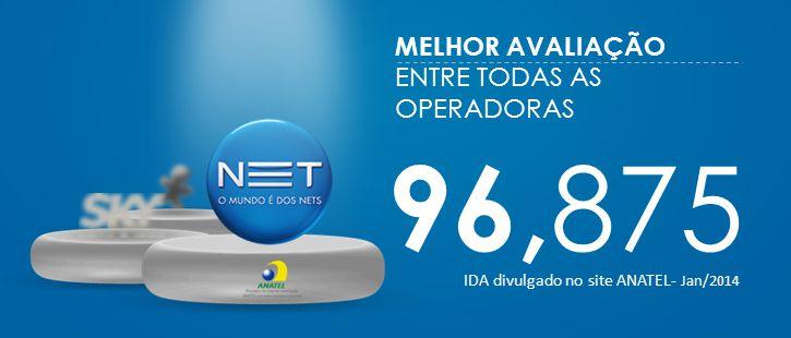 96, 875 IDA divulgado no site ANATEL- Jan/2014 MELHOR AVALIAÇÃO ENTRE TODAS AS OPERADORAS