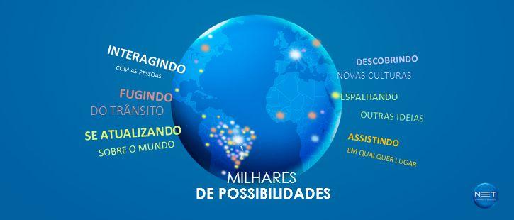 SE ATUALIZANDO SOBRE O MUNDO FUGINDO DO TRÂNSITO INTERAGINDO COM AS PESSOAS DESCOBRINDO NOVAS CULTURAS ESPALHANDO OUTRAS IDEIAS ASSISTINDO EM QUALQUER LUGAR MILHARES DE POSSIBILIDADES