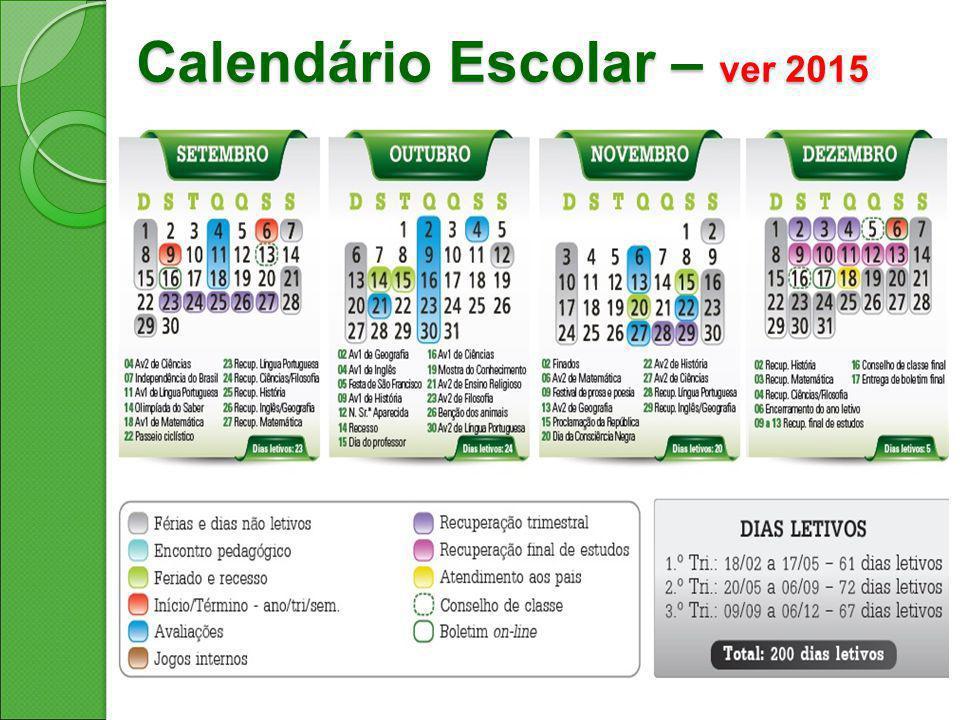 Calendário Escolar – ver 2015