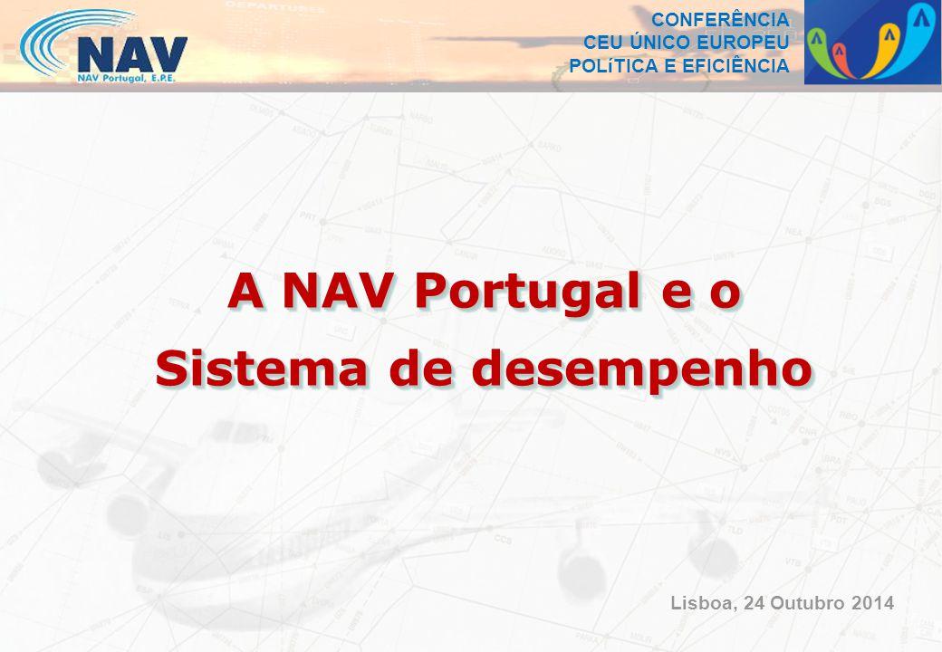 CONFERÊNCIA CEU ÚNICO EUROPEU POLíTICA E EFICIÊNCIA A NAV Portugal e o Sistema de desempenho A NAV Portugal e o Sistema de desempenho Lisboa, 24 Outubro 2014