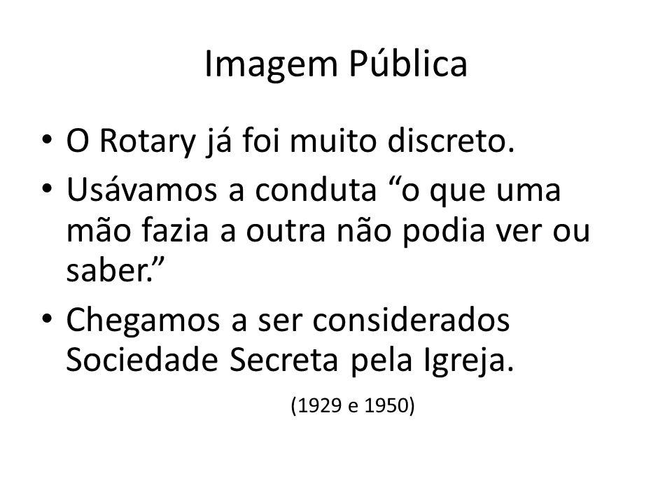 Imagem Pública O Rotary já foi muito discreto.