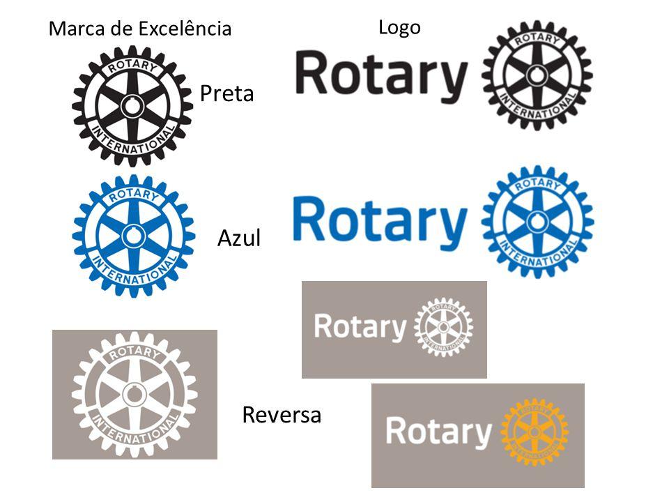 Preta Azul Reversa Marca de Excelência Logo
