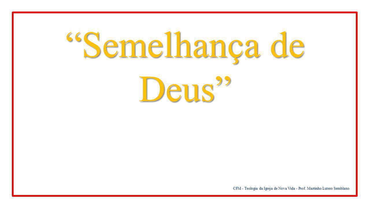 CFM - Teologia da Igreja de Nova Vida - Prof. Martinho Lutero Semblano Semelhança de Deus