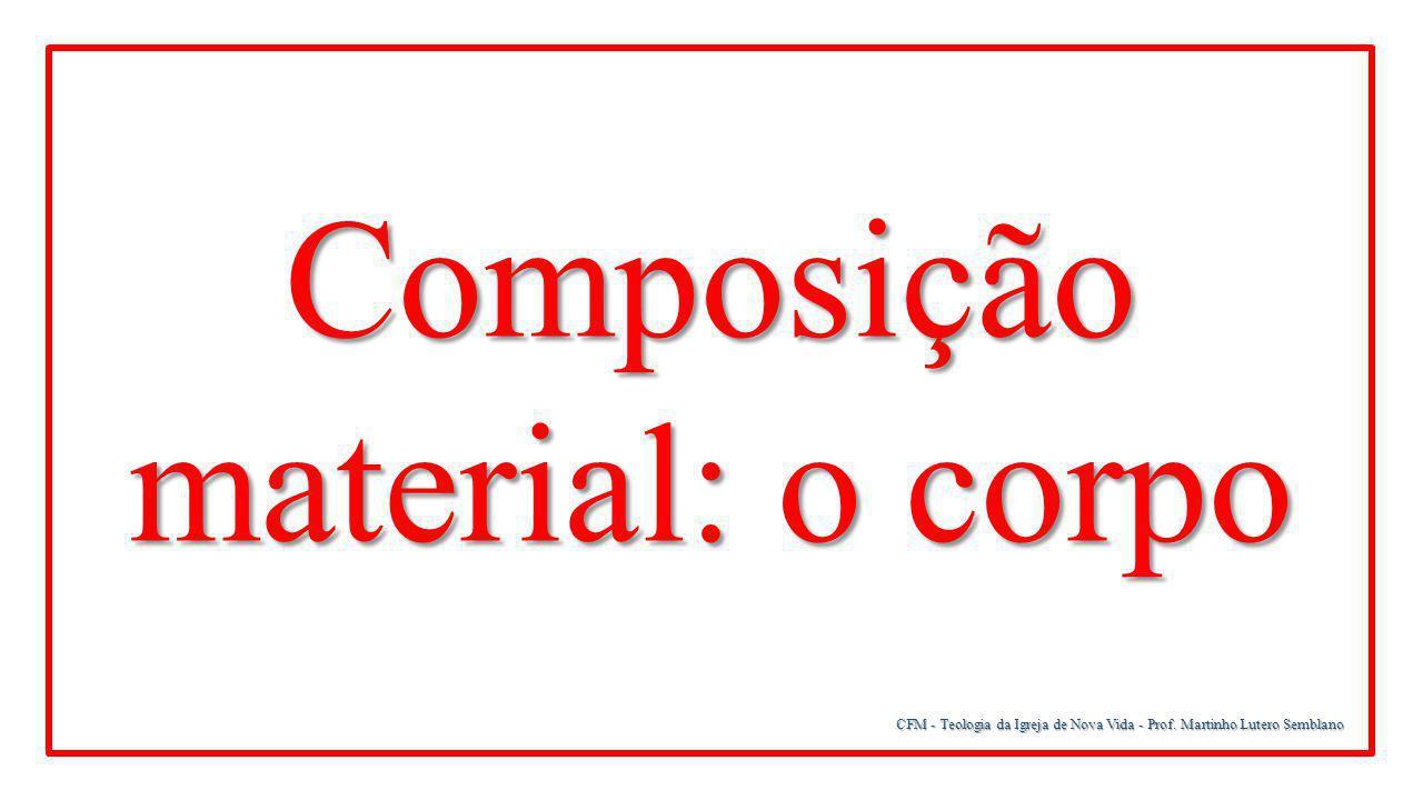 CFM - Teologia da Igreja de Nova Vida - Prof. Martinho Lutero Semblano Composição material: o corpo