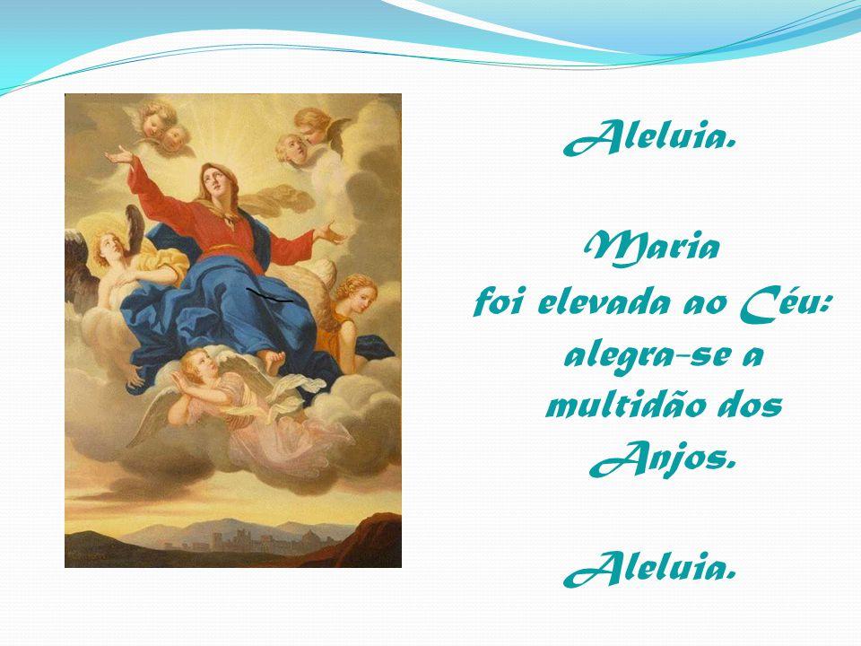 Aleluia. Maria foi elevada ao Céu: alegra-se a multidão dos Anjos. Aleluia.