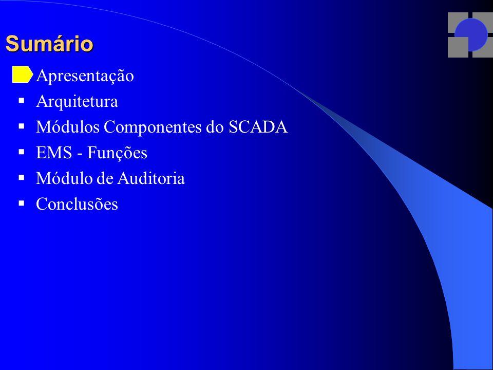 EMS – Estudos: Unifilar Geral Essa é a tela principal do EMS implantado na CEB.
