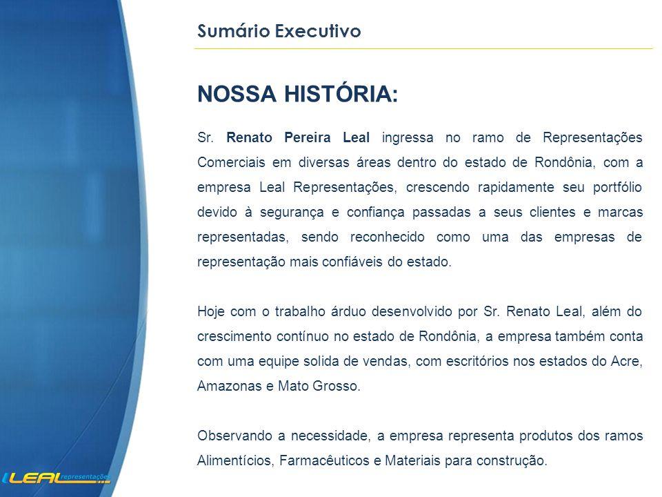 Sumário Executivo NOSSA HISTÓRIA: Sr.