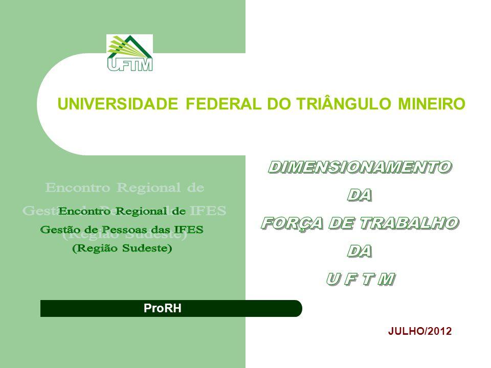 UNIVERSIDADE FEDERAL DO TRIÂNGULO MINEIRO JULHO/2012 ProRH
