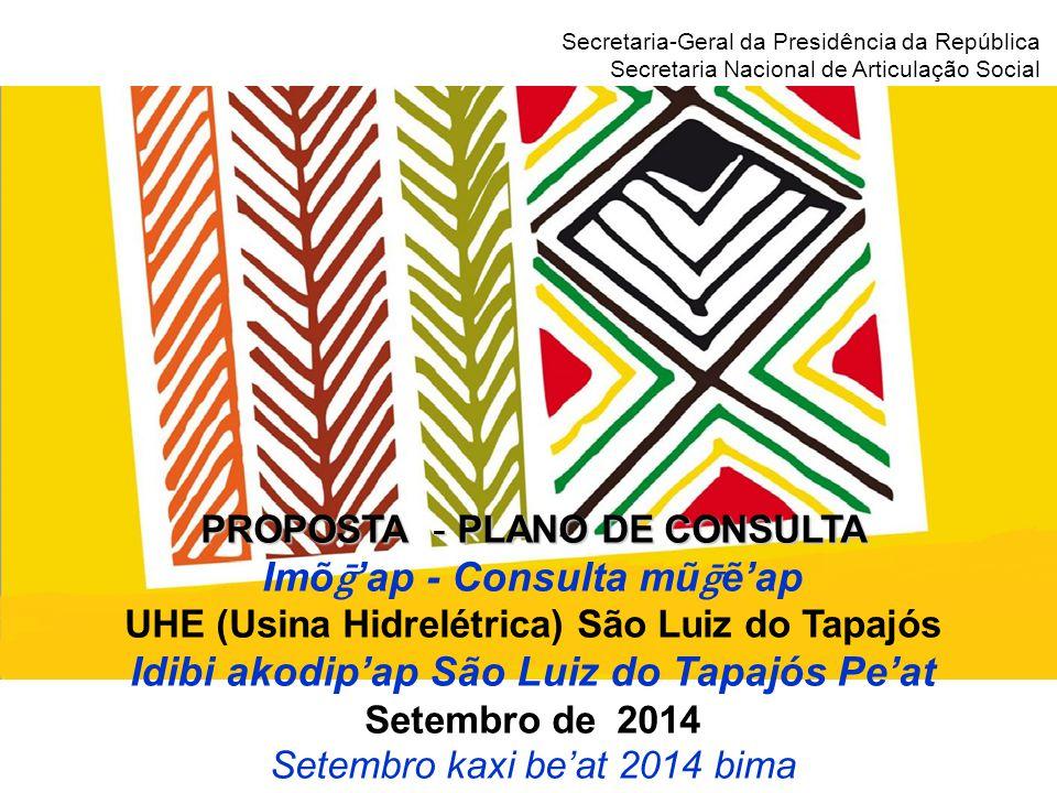 Secretaria-Geral da Presidência da República Secretaria Nacional de Articulação Social O que é a consulta.