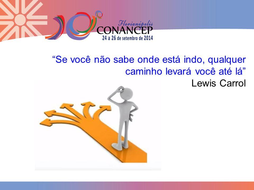 Se você não sabe onde está indo, qualquer caminho levará você até lá Lewis Carrol