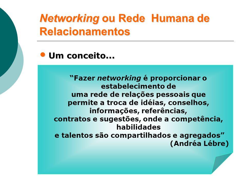 Networking ou Rede Humana de Relacionamentos Um conceito...