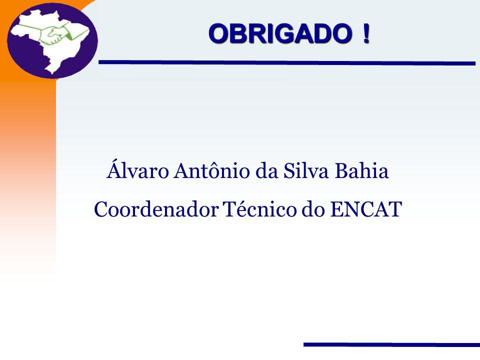Nota Fiscal Eletrônica Projeto OBRIGADO ! Álvaro Antônio da Silva Bahia Coordenador Técnico do ENCAT