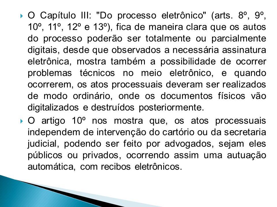  O Capítulo III: Do processo eletrônico (arts.