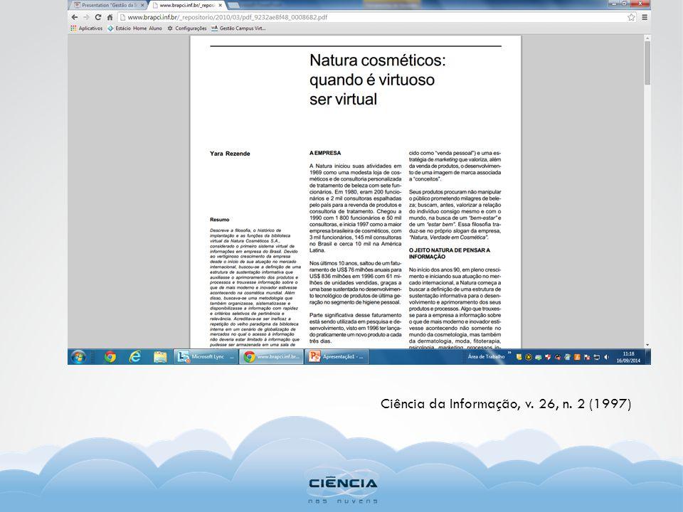 Ciência da Informação, v. 26, n. 2 (1997)