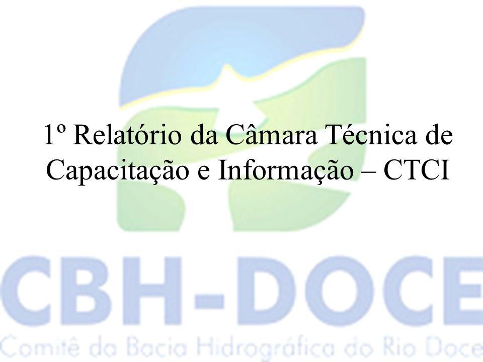 1º Relatório da Câmara Técnica de Capacitação e Informação – CTCI