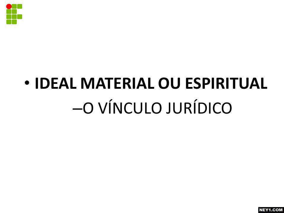 IDEAL MATERIAL OU ESPIRITUAL – O VÍNCULO JURÍDICO