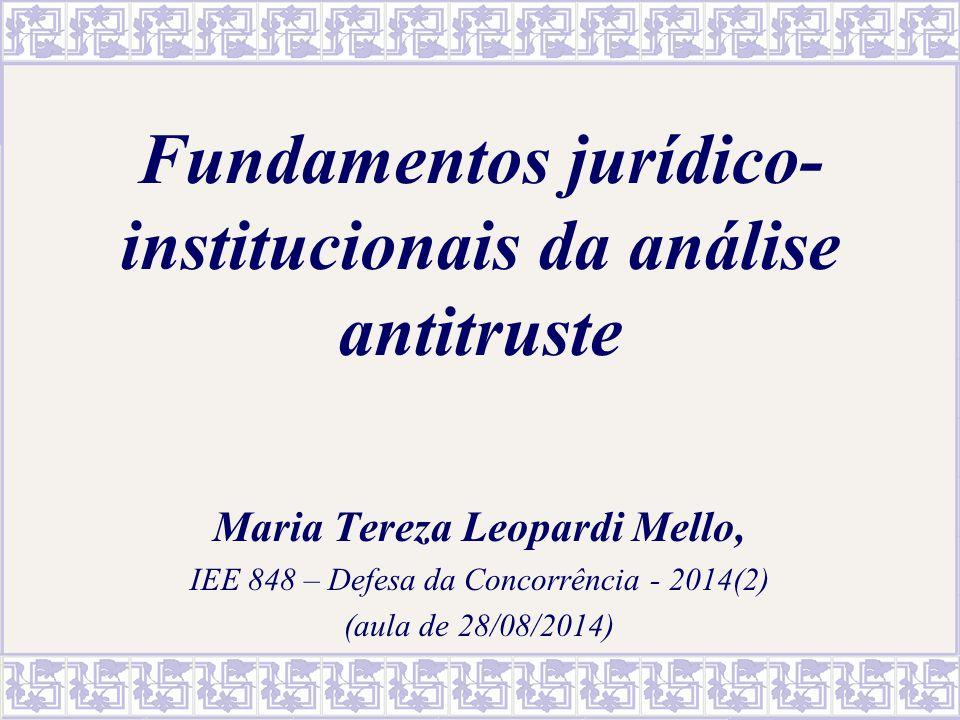 2 Sumário 1.Fundamentos da política de defesa da concorrência 2.Características da ação antitruste 2.1.