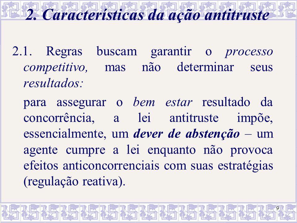Posição dominante (poder de mercado) no controle das concentrações Critérios para submissão obrigatória dos atos de concentação ao CADE são baseados no faturamento, cf.