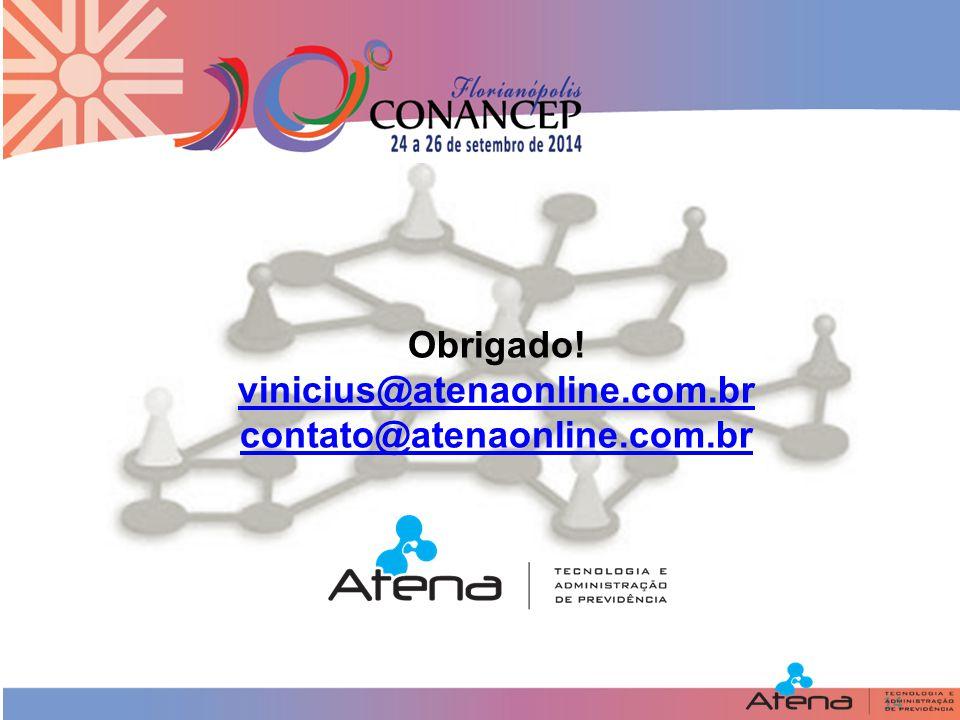 14 Obrigado! vinicius@atenaonline.com.br contato@atenaonline.com.br