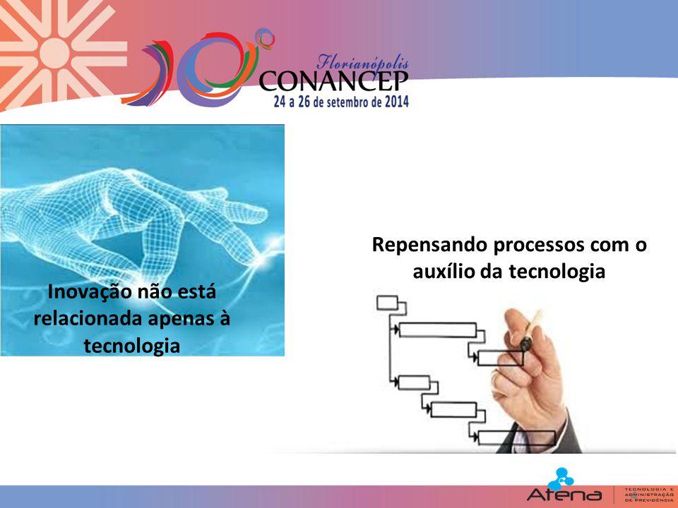 4 Inovação não está relacionada apenas à tecnologia Repensando processos com o auxílio da tecnologia