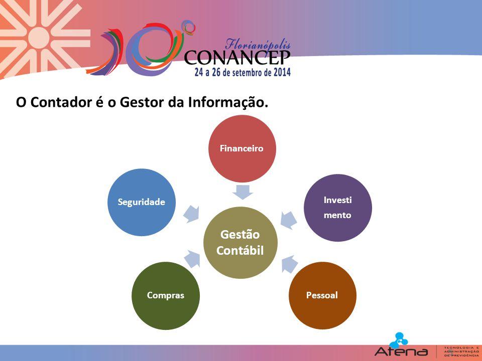 5 Gestão Contábil O Contador é o Gestor da Informação.