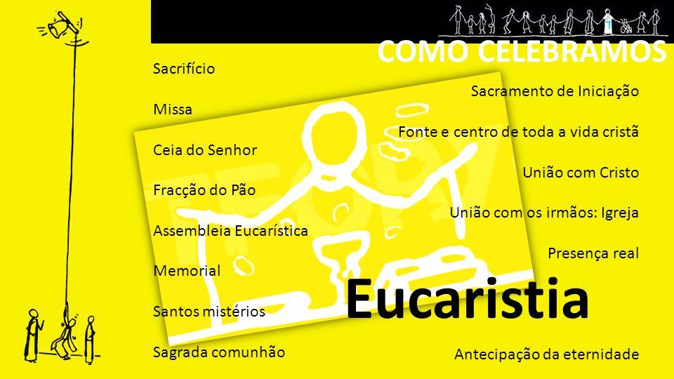 COMO CELEBRAMOS O que produz em nós a Eucaristia.