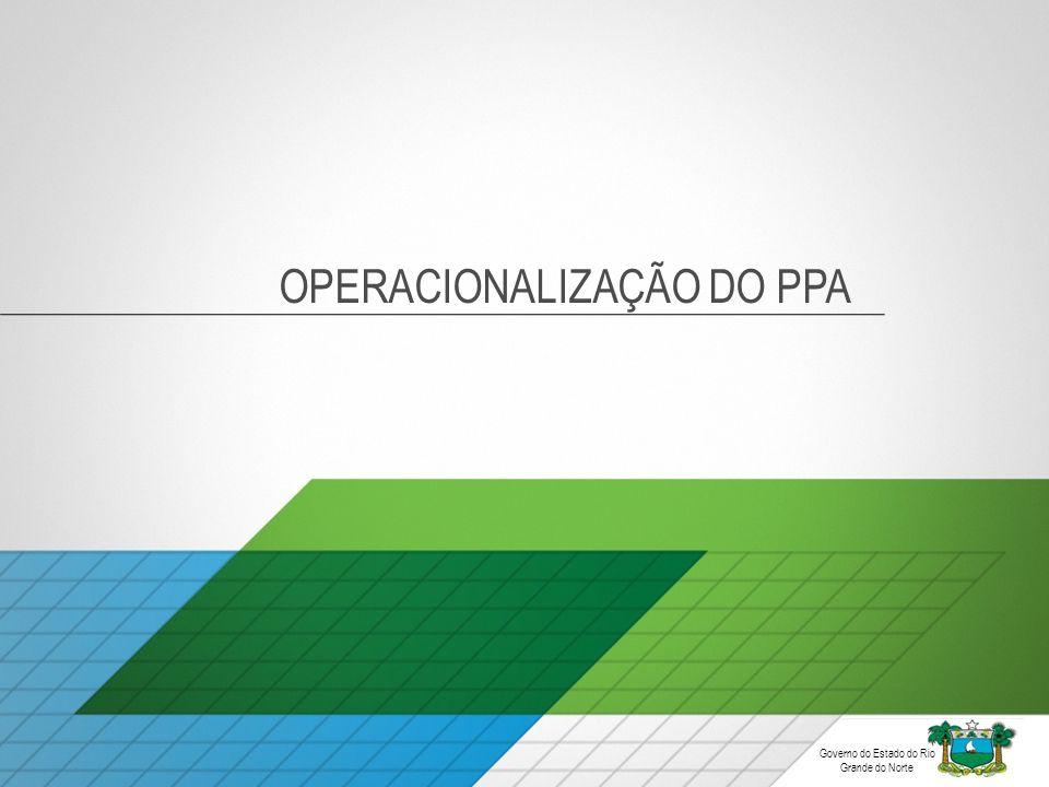 OPERACIONALIZAÇÃO DO PPA Governo do Estado do Rio Grande do Norte