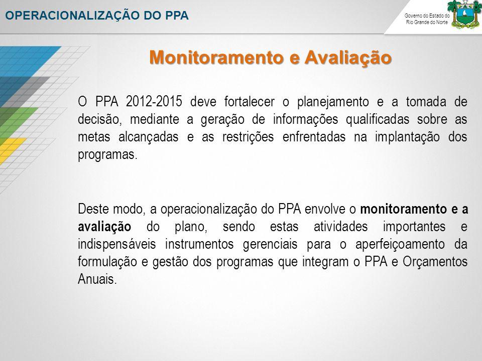 O PPA 2012-2015 deve fortalecer o planejamento e a tomada de decisão, mediante a geração de informações qualificadas sobre as metas alcançadas e as restrições enfrentadas na implantação dos programas.