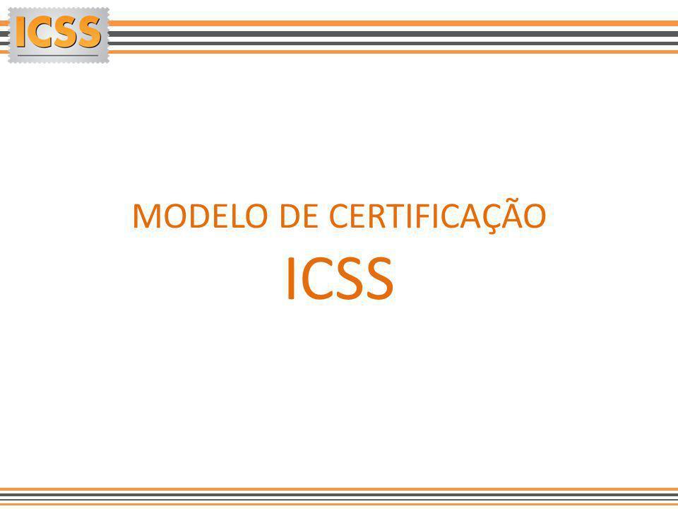 MODELO DE CERTIFICAÇÃO ICSS