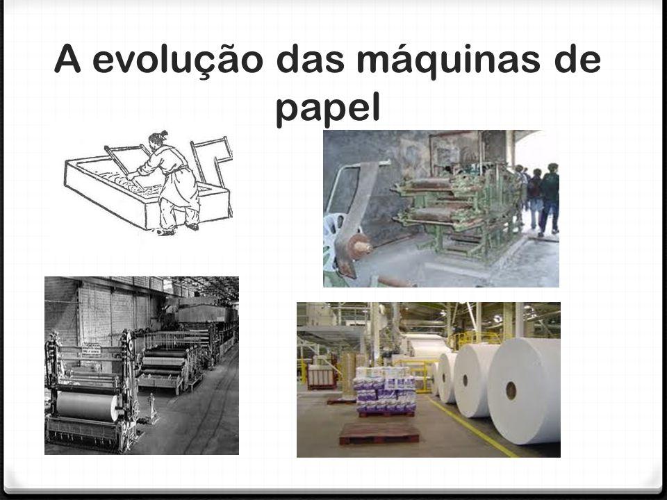 A evolução das máquinas de papel