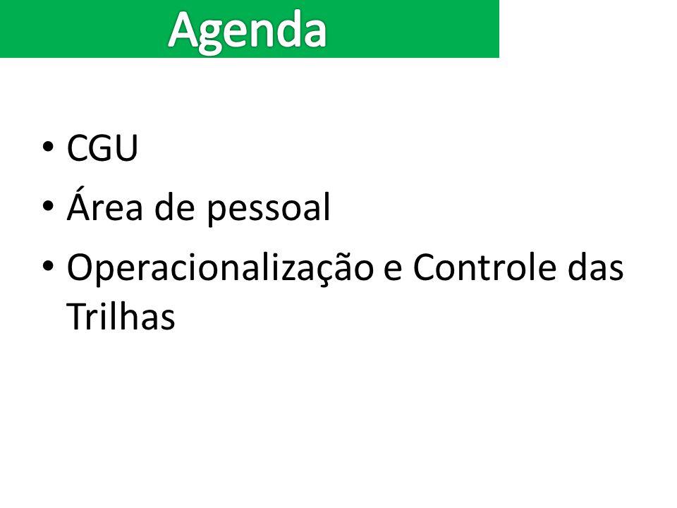 CGU Área de pessoal Operacionalização e Controle das Trilhas