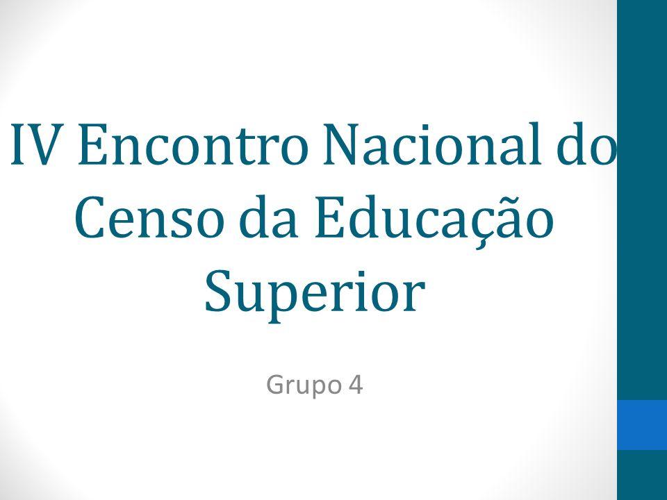 IV Encontro Nacional do Censo da Educação Superior Grupo 4