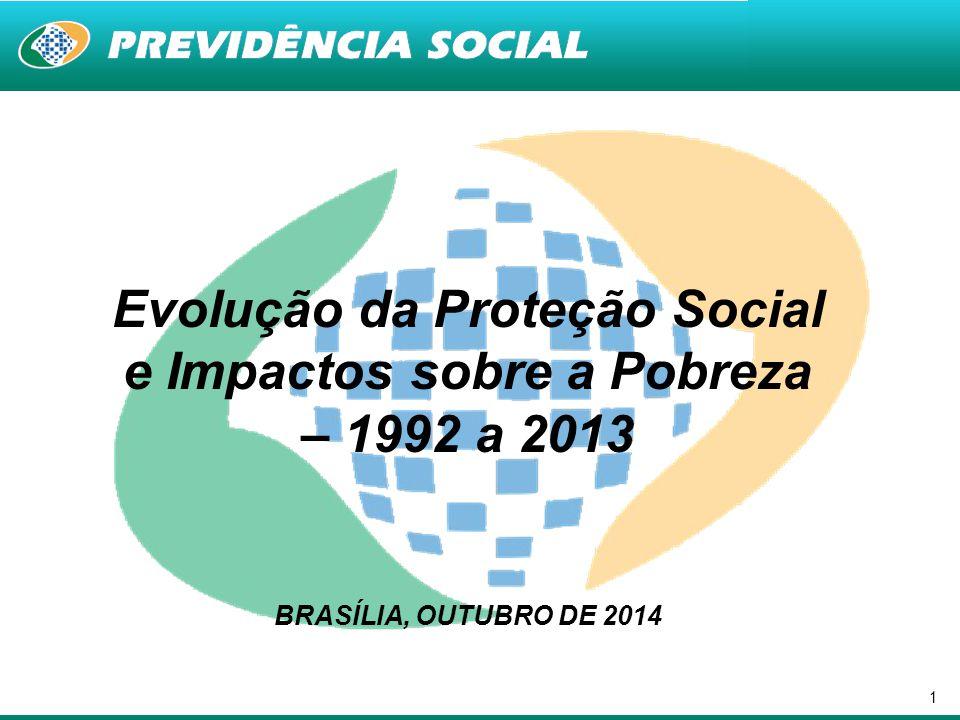 1 Evolução da Proteção Social e Impactos sobre a Pobreza – 1992 a 2013 BRASÍLIA, OUTUBRO DE 2014