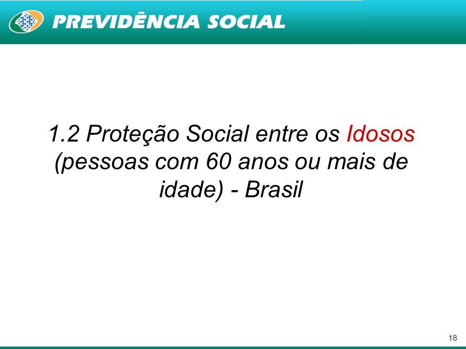 18 1.2 Proteção Social entre os Idosos (pessoas com 60 anos ou mais de idade) - Brasil