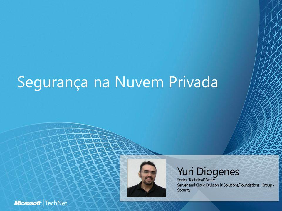 Modelo de Segurança da Nuvem Privada Domínios de Segurança Funcionalidade Infra-estrutura Plataforma Software Entrega do Serviço Gerenciamento Cliente Conformidade