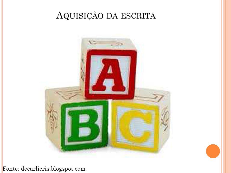 A QUISIÇÃO DA ESCRITA Fonte: decarlicris.blogspot.com