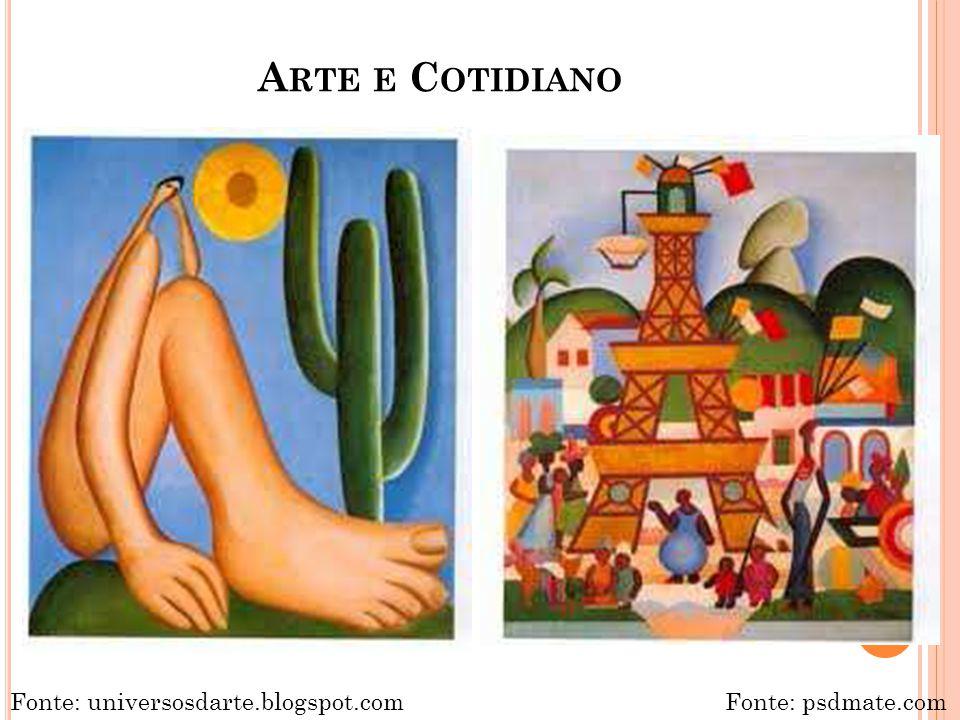 A RTE E C OTIDIANO Fonte: universosdarte.blogspot.comFonte: psdmate.com