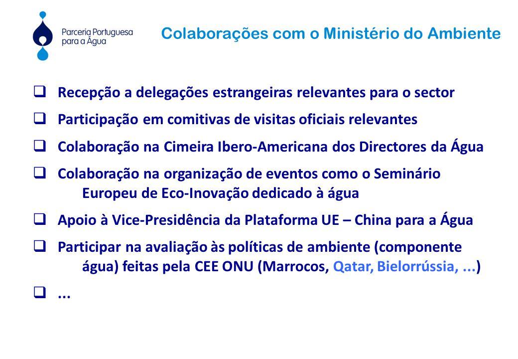  Recepção a delegações estrangeiras relevantes para o sector  Participação em comitivas de visitas oficiais relevantes  Colaboração na Cimeira Iber