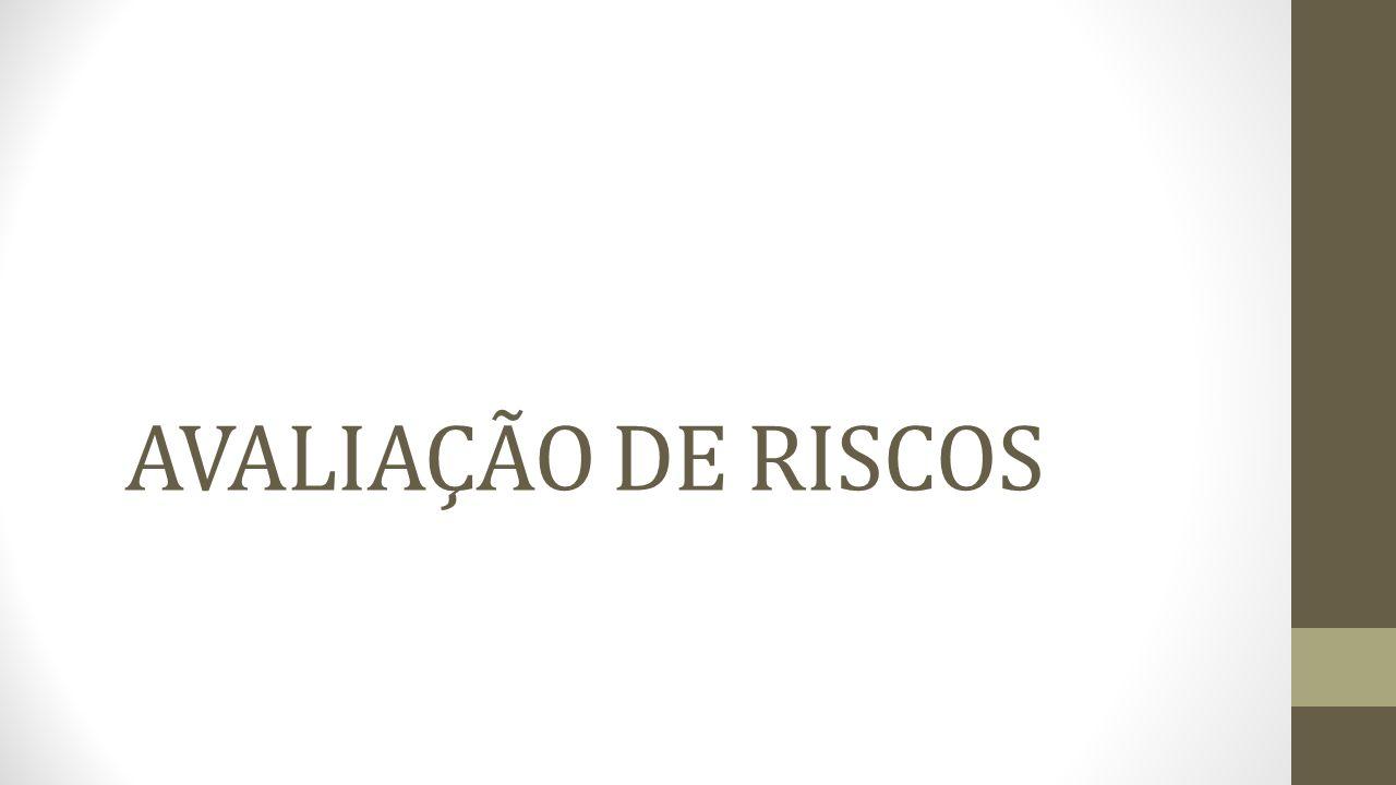 AVALIAÇÃO DE RISCOS